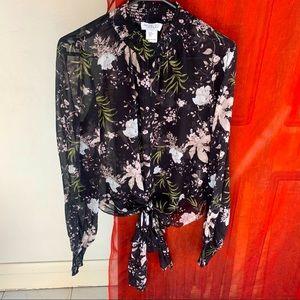 RACHEL ZOE (s) floral blouse